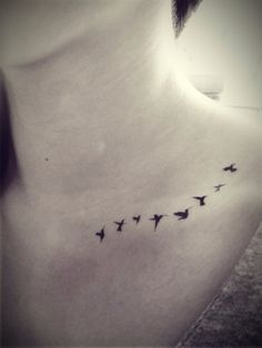 8pcs Flying Tiny Birds Swallow silhouette Tattoo - InknArt Temporary Tattoo - pack tattoo quote wrist ankle body sticker anchor fake tattoo