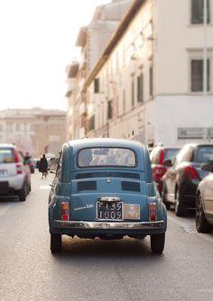 Vintage Fiat 500 in Florence. #fiat500