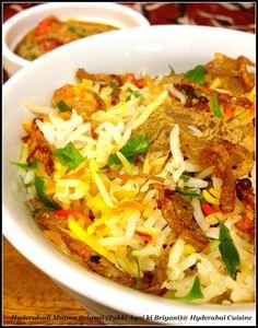 Hyderabadi Cuisine: Hyderabadi Mutton Biryani-I (Pakki Aqni ki Biryani)