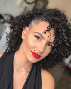 Shaved Side Hairstyles, Cute Hairstyles, Curly Hair Styles, Natural Hair Styles, Olivia Rose, Hair Again, Side Cuts, New Haircuts, Alternative Fashion