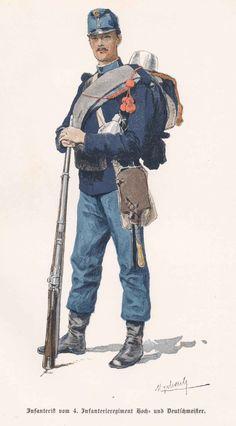 Infanterist Hoch- und Deutschmeister No. 4