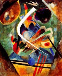 Wassily Kandinsky. White line