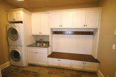 Laundry room-mudroom -- I WISH this was our laundry room!