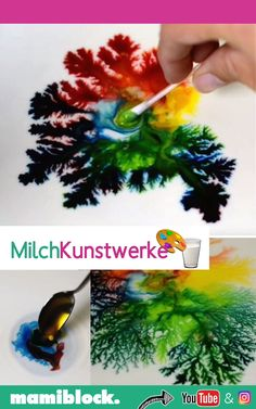 Kunstwerke aus Milch und Sahne Every child is delighted with this sight! Works of art made from milk, food coloring and dish washer. The detergent drives the color. Discover a lot more mom hacks, tips Flamingo Party, Diy Lego, Diy Niños Manualidades, Diy Storage Containers, Diy Food Gifts, Diy For Men, How To Make Diy, Hacks Diy, Food Hacks