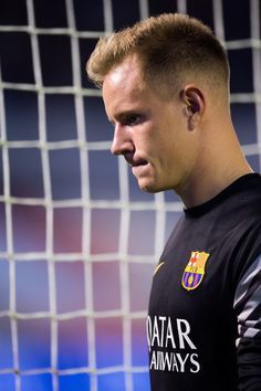 Marc-Andre Ter Stegen of FC Barcelona looks dejected after the La Liga match between Celta Vigo and FC Barcelona at Estadio Balaidos on September 23, 2015 in Vigo, Spain.