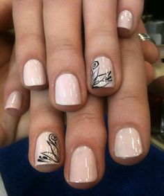 Image via Red nails gold accents Image via Pretty Short Nail Designs For Spring and it's Nerium colors Image via Simple Nail Art Designs for Short Nails Image via fun summ Cute Nail Art Designs, Short Nail Designs, Simple Nail Designs, Neutral Nail Designs, Nail Design For Short Nails, Accent Nail Designs, Neutral Nails, Awesome Designs, Fall Nail Designs