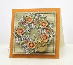 Penny Blac k Supplies      Paper Pad: golden moment   Stamps: flowers all around   Creative Die : Circle Tags           Coloured wit...