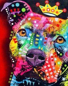 Original Art Mixed Media Pop Art DOG Painting PIT by... | Shop | Kaboodle