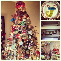 Christmas trees should be flocked with memories - that's what mine is! Packed full of my kids homemade ornaments!!!