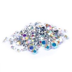 Nizi Jewelry Crystal AB Color Resin Rhinestones Pointed Back 2mm 2.5mm 2.8mm 3mm 4mm 4.7mm 6.5mm Mixed Together (Mixed Sizes 1000pcs) *** Continue to the item at the image link.