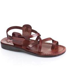 0e9551209388 The Good Shepherd with Straps. Jerusalem Sandals. Brown Leather  SandalsLeather BagJesus ...