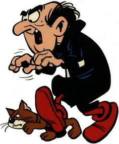 "Everyone knows who Gargamel is. Gargamel is an ""evil"" wizard and the sworn enemy of the Smurfs. With his trademark catchphrase, ""I hate those Smurfs! Classic Cartoon Characters, Favorite Cartoon Character, Classic Cartoons, Arte Nerd, Vintage Cartoons, Vintage Toys, Old School Cartoons, Saturday Morning Cartoons, Cartoon Cartoon"