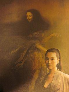 Fuyuko Matsui with her painting