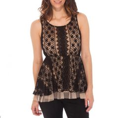 Lace Peplum Top-this one I like,usually not into peplum's