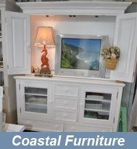 Nantucket Entertainment Center with Bi-Fold Doors | Cottage Furnishings