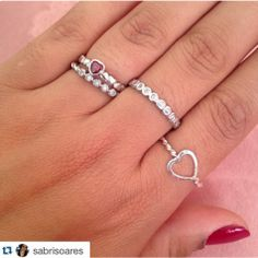 Pandora Rings Stacked, Stacking Rings, Cute Jewelry, Heart Ring, Piercings, Jewels, Bracelets, Accessories, Jewellery