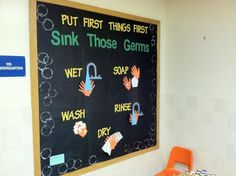 Hygiene bulletin board