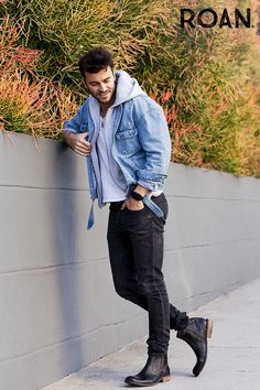 How To Wear Leather Jacket Men Casual 64 Ideas Leather Men, Leather Shoes, Leather Jacket, Jacket Men, Casual Menswear, Men Casual, Sperry Boots, Fashion Boots, Mens Fashion