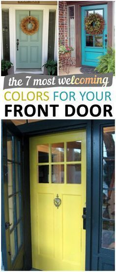 The 7 Most Welcoming Colors for your Front Door.   Diy, diy home projects, home décor, home, dream home, diy projects, home improvement, inexpensive home improvement, cheap home diy.