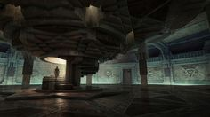 The Athenaeum of Light, wherein the litanies of the Sentinels are graven on wall and floor