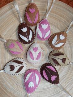 Tulipános hímes tojások 10 db , Húsvéti dekoráció, Otthon, lakberendezés, Meska