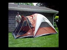 Erecting Coleman Evanston 4 Person Tent - YouTube & $137. Coleman Evanston 6 Screened Tent Colemanhttp://www.amazon ...