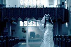 pose in the church alone after the guests have gone to the reception!