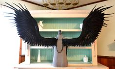 One of a kind feather wings by Uber Kio https://www.etsy.com/listing/244717010/feather-wings-extra-large-in-solid-black?ref=shop_home_active_1