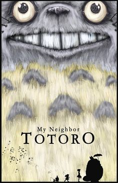My Neighbor Totoro Inspired Movie Poster  by LeftoverPotatoes, $20.00