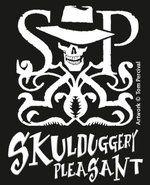 Das Skulduggery Pleasant-Logo Stenciled or printed or bleached onto something?
