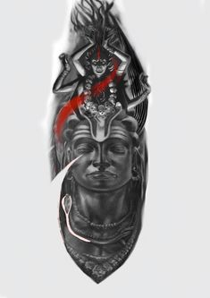 God Tattoos, Forarm Tattoos, Body Art Tattoos, Sleeve Tattoos, Kali Tattoo, Shiva Tattoo Design, Devil Tattoo, Tentacle Tattoo, Buda Tattoo