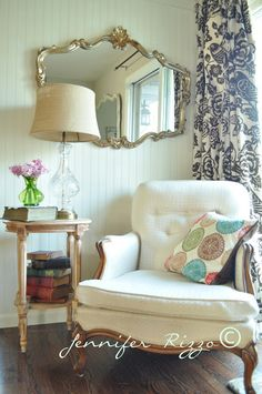 Chair style very similar to ours!   From My Front Porch To Yours: How I Found My Style Sundays- Jennifer Rizzo