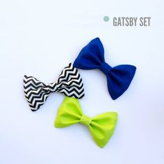 Hair Bow Set  Hair Bow Bow Fabric Hair Bow by WithLoveFromRyane, $7.50 A guy I work with, his daughter sells the cutest bows on Etsy! Check em' out