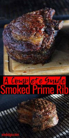 Smoked Prime Rib Perfect Smoked Prime Rib for any holiday or special occasion. Full recipe plus a video tutorial on cooking the perfect prime rib in a smoker. Plus wine pairings for prime rib! Best Beef Recipes, Traeger Recipes, Smoked Meat Recipes, Rib Recipes, Grilling Recipes, Game Recipes, Grilled Prime Rib, Slow Roasted Prime Rib, Smoked Prime Rib Roast