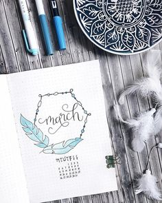 Hello March! The theme is feathers and I chose the color blue  I tried to use watercolors again in my Bujo, but it's so difficult  I'm…