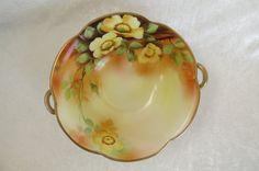 Vintage Hand Painted Nippon Bowl w/ Handles by EMStreasureseekers, $58.00
