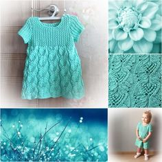 Платье «Бирюзовый сон» на 1-2 года (Вязание спицами) — Журнал Вдохновение Рукодельницы
