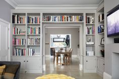 Blackheath project - Emma Collins Interiors - Sitting Room - Bookcase Cabinetry Inspiration - Humphrey Munson Blog