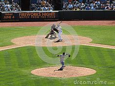 OAKLAND, CA - FEBRUARY 20: Giants pitcher Santiago Castilla throws ball toward homeplate with Athletics batter waiting for pitch with catcher and umpire standing behind them on May 23, 2010 at the Oakland Coliseum taken February 20, 2011 Oakland, California.