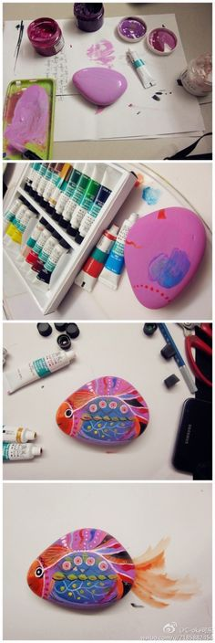 How to paint a fish rock