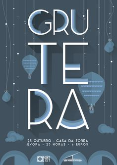 Grutera Gig Poster i've made for Casa da Zorra in Évora.