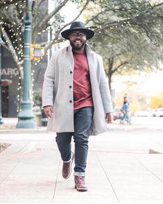 Mens Fall Outfits, Outfits For Big Men, Mens Dress Outfits, Stylish Mens Outfits, Chubby Men Fashion, Mens Plus Size Fashion, Large Men Fashion, Fat Fashion, Plus Size Men