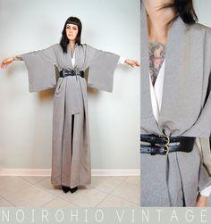 Kimono! A high fashion way to wear a kimono.