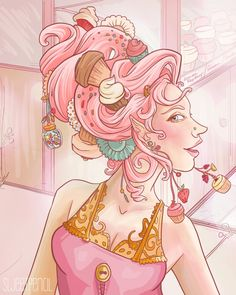 http://www.etsy.com/listing/99268129/the-cupcake-queen    Cupcake Queen #cupcake #illustration  - love this amanda!!!
