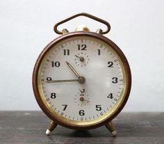 Vintage French Jaz alarm clock by SAMANTHATENN on Etsy, $35.00