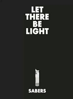 """""""And George said, 'Let there be light,' and there was lightsaber. George saw that the lightsaber was good, and he separated the lightsabers from the Dark Side. Star Wars Love, Star War 3, Star Wars Art, Death Star, Star Trek, Cuadros Star Wars, Star Wars Personajes, Be Light, Light Side"""