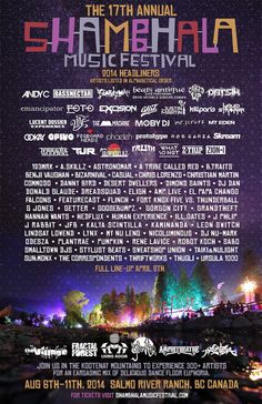 Shambhala Music Festival 2014 | Salmo River Ranch | Nelson, BC | AUG 6-11