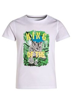 Kanz - Print T-shirt - bright white