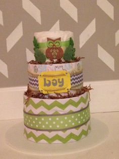 Look whos new too owl themed diaper wreath baby shower gift for diaper cake owl modern baby shower yellow and grey chevron place your order today negle Images