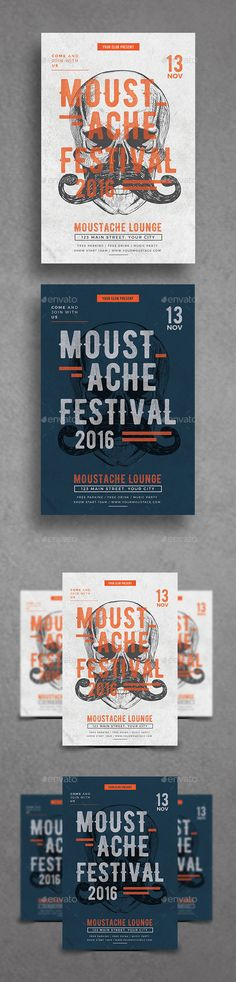 Moustache Fest Flyer  — AI Illustrator #celebration #holiday • Download ➝ https://graphicriver.net/item/moustache-fest-flyer/18650671?ref=pxcr